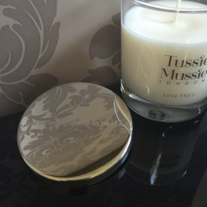 Engraved Tussie Mussie candle lid